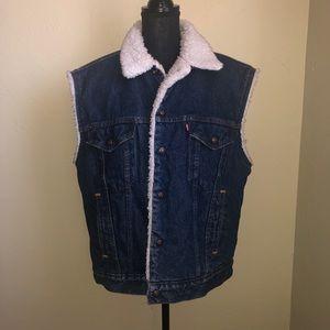 Trucker Denim Vest Jean Jacket Sherpa Vintage